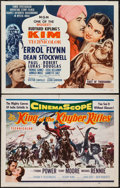 "Movie Posters:Adventure, King of the Khyber Rifles & Other Lot (20th Century Fox, 1954).Half Sheets (2) (22"" X 28""). Adventure.. ... (Total: 2 Items)"