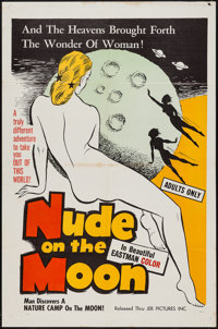 "Nude on the Moon (J.E.R. Pictures, 1961). One Sheet (27"" X 41""). Sexploitation"