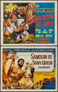 "Movie Posters:Action, Samson and the Slave Queen & Other Lot (American International,1964). Half Sheets (2) (22"" X 28""). Action.. ... (Total: 2 Items)"