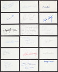 Autographs:Index Cards, Baseball Greats Signed Index Cards Lot Of 36....