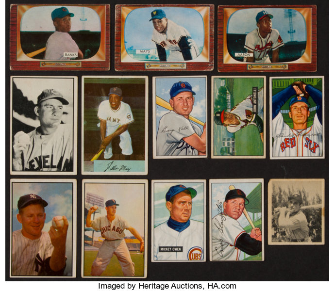 1948 1955 Bowman Baseball Card Collection 40 With Hofers