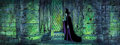 Animation Art:Concept Art, Sleeping Beauty Maleficent Production Cel and Eyvind Earle Pan Master Background (Walt Disney, 1959).... (Total: 2 Original Art)