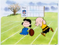 Animation Art:Production Cel, You're in the Super Bowl, Charlie Brown Charlie and LucyProduction Cel (Bill Melendez, 1994)....