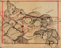 Animation Art:Production Drawing, Snow White and the Seven Dwarfs Earliest Known StoryboardArt Group (Walt Disney, 1937).... (Total: 14 Original Art)
