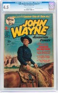 Golden Age (1938-1955):Western, John Wayne Adventure Comics #1 (Toby Publishing, 1949) CGC VG+ 4.5Cream to off-white pages....