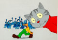 Animation Art:Production Cel, Fritz the Cat Fritz and Greenwich Village MusiciansProduction Cel Setup (Ralph Bakshi, 1972).... (Total: 3 OriginalArt)