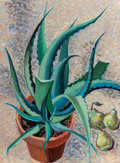 Texas:Early Texas Art - Modernists, BARNEY DELABANO (American, 1926-1997). Maguey, 1994. Oil oncanvas. 29 x 21 inches (73.7 x 53.3 cm). Signed and dated up...