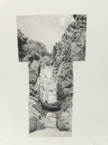 Fine Art - Work on Paper:Drawing, JAMES MALONE (American, 20th Century). Burro Mesa Pouroff,1995. Pencil on paper. 30 x 22 inches (76.2 x 55.9 cm) (sheet...
