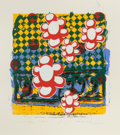 Prints, MICHAEL C. MILLER (American, b. 1962). Untitled No. 1 (Popping Daisies), 1995. Screenprint in colors. 32-3/8 x 29-5/8 in...