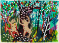 Paintings, MARGARET VAN WAGONER (American, 20th Century). First Snow, 1990. Mixed media on paper. 21-1/4 x 29 inches (54.0 x 73.7 c...