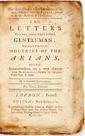 Books:Religion & Theology, A Country Gentleman (Pseudonym). Two Letters to a...Gentleman; Attempting to Subvert the Doctrine of the Arians. Bos...