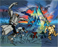 Animation Art:Presentation Cel, Challenge of the Gobots Publicity Cel (Hanna-Barbera,1984).... (Total: 2 Items)