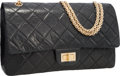 Luxury Accessories:Bags, Chanel Limited Edition Black Quilted Lambskin Leather 50thAnniversary Jumbo Reissue Flap Bag with Gold Hardware. ...