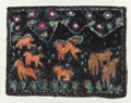Paintings, MARGARET VAN WAGONER (American, 20th Century). Pecos Ponies, 1988. Mixed media on paper. 22-3/8 x 28-5/8 inches (56.8 x ...
