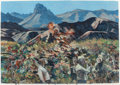 Works on Paper, JIM WOODSON (American, b. 1941). Big Bend Symphony No. 2, 1995. Oil on paper. 19 x 26-3/4 inches (48.3 x 67.9 cm) (sight...