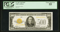 Small Size:Gold Certificates, Fr. 2407 $500 1928 Gold Certificate. PCGS Choice About New 55.. ...