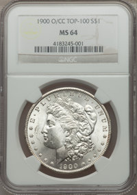 1900-O/CC $1 MS64 NGC. Top-100. NGC Census: (783/187). PCGS Population (1838/802). Numismedia Wsl. Price for problem fre...