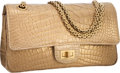 Luxury Accessories:Bags, Chanel Metallic Gold Crocodile Medium Double Flap Bag with Brushed Gold Hardware & Jewel Chain Strap. Excellent to Pristin...