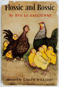 [Garth Williams, illustrator]. SIGNED. Eva Le Gallienne. Flossie and Bossie. New York: Harpers