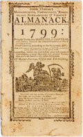 Books:Americana & American History, [Almanac]. Isaiah Thomas's Almanack for 1799. Worcester:Isaiah Thomas, [1799]. Self-wrappers, disbound. Modern ...