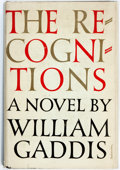 Books:Literature 1900-up, William Gaddis. The Recognitions. New York: Harcourt, Brace,[1955]. First edition. Publisher's cloth and original d...