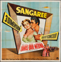 "Movie Posters:Adventure, Sangaree (Paramount, 1953). Six Sheet (78"" X 80"") 3-D Style.Adventure.. ..."