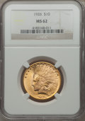 Indian Eagles: , 1926 $10 MS62 NGC. NGC Census: (14558/19923). PCGS Population(12568/14837). Mintage: 1,014,000. Numismedia Wsl. Price for ...