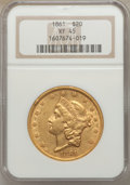 Liberty Double Eagles, (10) 1861 $20 XF45 NGC.... (Total: 10 coins)