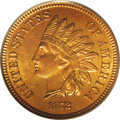 Proof Indian Cents: , 1872 1C PR66 Red and Brown PCGS. A remarkable Gem proof example with nearly full red color on both sides, only beginning to...