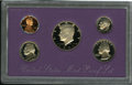 """Proof Sets: , 1990 1C No S Proof Set Uncertified. A 1990 proof set with the No """"S"""" cent. The cent grades PR60 Corroded Deep Cameo and the... (Total: 5 Coins)"""