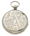 Timepieces:Pocket (pre 1900) , Arnold Adams Sterling Key Wind Pocket Watch. ...