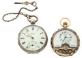 Timepieces:Pocket (post 1900), Mirado 8-Day & Harrison Lever Fusee. ... (Total: 2 Items)