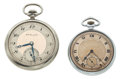 Timepieces:Pocket (post 1900), Gruen Verithin & H.D. Moser Open Face Pocket Watches. ...(Total: 2 Items)