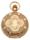 Timepieces:Pocket (post 1900), Elgin 14k Gold 40 mm Size Hunter's Case Pocket Watch. ...