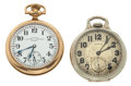 Timepieces:Pocket (post 1900), Illinois Sangamo Special & Hamilton Series 974 Pocket WatchesRunners. ... (Total: 2 Items)