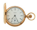 "Timepieces:Pocket (post 1900), Elgin 14k Gold ""6"" Size Hunter's Case Pocket Watch. ..."