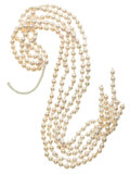 Estate Jewelry:Pearls, Cultured Pearls Hank. ... (Total: 5 Items)