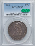 Bust Half Dollars: , 1835 50C XF45 PCGS. CAC. PCGS Population (130/595). NGC Census:(103/563). Mintage: 5,352,006. Numismedia Wsl. Price for pr...