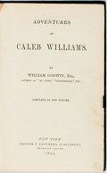 Books:Literature Pre-1900, William Godwin. Adventures of Caleb Williams. New York: Harpers, 1870. Contemporary green cloth. Ex-library copy, wi...