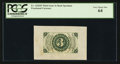 Fractional Currency:Third Issue, Fr. 1226SP 3¢ Third Issue Wide Margin Back PCGS Very Choice New 64.. ...