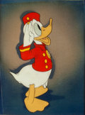Animation Art:Production Cel, Bellboy Donald Donald Duck Animation Production Cel with Courvoisier Background with Walt Disney Signature (Walt Disne...