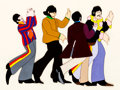 Animation Art:Production Cel, Beatles Yellow Submarine John, Paul, George, and RingoProduction Cel (United Artists/King Features, 1968)....