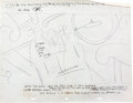 "Animation Art:Production Drawing, Beatles Yellow Submarine ""Sea of Time"" Concept Story LayoutProduction Drawing (United Artists/King Features, 1968..."