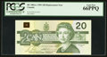 Canadian Currency: , BC-58bA-i $20 1991 Replacement.. ...