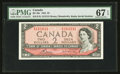 Canadian Currency: , BC-38c $2 1954 Radar Note. ...