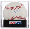 Autographs:Baseballs, Yogi Berra Single Signed Baseball PSA NM-MT 8....