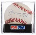 Autographs:Baseballs, Joe Montana Single Signed Baseball PSA NM+7.5....