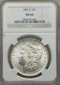 Morgan Dollars, (20)1883-O $1 MS64 NGC. NGC Census: (44688/10866). PCGS Population(36989/8247). Mintage: 8,725,000. Numismedia Wsl. Price ... (Total:20 coins)