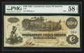 Confederate Notes:1862 Issues, T39 $100 1862 PF-5 Cr. 290.. ...