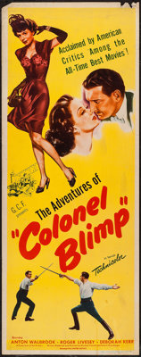 """The Life and Death of Colonel Blimp (United Artists, 1945). Insert (14"""" X 36""""). Drama. Released in the U.S. as..."""